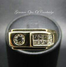 Gents 9ct Gold 0.65ct Diamond Ring Size V 5.6g