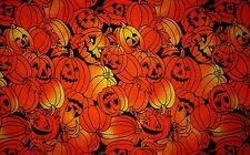 Halloween Pampkin Party fabric quilt & craft 1 yd.