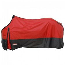 """Tough 1 Red 420 Denier Poly Stable Horse Sheet Size 81"""" horse tack 34-8420"""