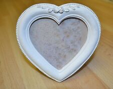 Antique Heart White Photo Frame