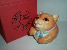 KEVIN FRANCIS FACE POTS RARE GOLD MARK Miss Luciano Cat Box w/ Cert Made In UK