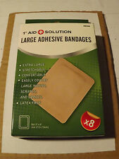 "First Aid   EXTRA LARGE ADHESIVE BANDAGES   3"" x 4"" (Latex Free) Comfortable"