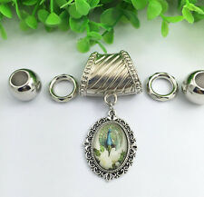 Fashion Women DIY Necklace Jewelry peacock scarf pendant set Charms#3