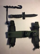 Ontario ASEK combat survival USAF pilot knife with strap cutter & sheath USA