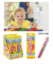 Kids Scentos Rainbow Colour Retractable Pen Scented Candy Fruits Game Prizes Toy
