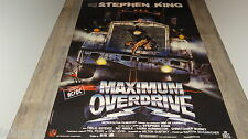 MAXIMUM OVERDRIVE !  stephen king   affiche cinema  trucks