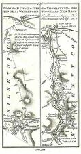 Antique map, Roads from Inistioge to Waterford, Thomastown to New Ross, ..