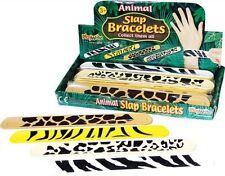 24 ANIMAL PRINT SNAP BRACELETS- PARTY BAG TOYS-JUNGLE-POCKET MONEY TOYS