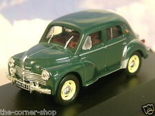 NICE 1/43 DIECAST 1950 RENAULT 4CV BERLINE GRAND LUXE TYPE R1060 IN DARK GREEN