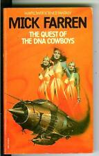 QUEST OF THE DNA COWBOYS by Mick Farren, rare British sci-fi pulp gga vintage pb