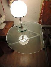 2x Glas Schiebenachttische für Auping Betten, Glas matt, Gestell Aluminium