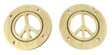 "2pc. Wood Sound Hole Covers for Cigar Box Guitar: 2.5"" Peace Sign 32-125-01"