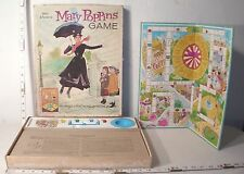 WALT DISNEY'S MARY POPPINS BOARD GAME 1960s BOXED BY WHITMAN COMPLETE