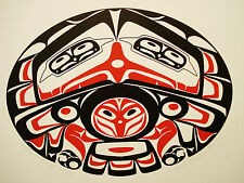 NORTHWEST COAST NATIVE ART HAIDA EAGLE  LTD EDITION  PRINT SIGNED SERIGRAPH
