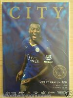 LEICESTER CITY V WEST HAM UNITED (17/04/2016) *PREMIERSHIP FOOTBALL PROGRAMME*