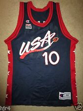 Reggie Miller #10 USA US Olympics Indiana Pacers NBA Champion Jersey 44