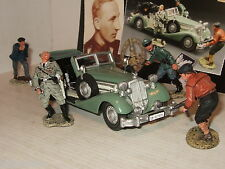 Rare king and country WS104 (sl) l'assassinat de heydrich, voiture & 4 figurines