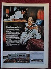 1971 Print Ad WINNEBAGO Chieftain II Mobile Home ~ Pretty Girl Park Her Anywhere