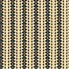 Fabric Western Laredo Diamond Stripe on Ecru Cotton 1 Yard S