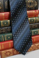 New Apt 9 Mens Skinny Silk Neck Tie Blue Black Graduated Stripe T679