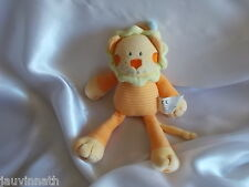 Doudou lion, orange, jaune, Nicotoy, Kiabi