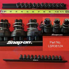 "New Snap On 3/8"" Black Quick Release Locking Clips Socket Rail - LSR3812A"