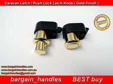 5 x ArmStrong Push Lock Latch Golden  Caravan Motor home Boat Drawer Cupboard