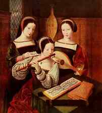 A4 Photo Master of the Female Half Lengths 1530 3 ladies playing music Print Pos