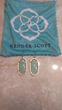 Kendra Scott Elle Chalcedony Green 14k Gold Plated Small Earrings