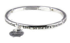 4030855 Teacher Prayer Stretch Bracelet Christian Teachers Gift School Apprec...