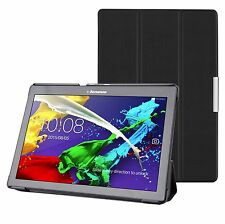 "BLACK PU THIN LEATHER CASE COVER FOR LENOVO TAB 2 A10-70 (ANDROID OS 10"" TABLET)"