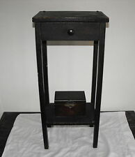 OLD VTG ANTIQUE ORIGINAL WOOD TOBACCO COPPER LINED HUMIDOR TRUNK PIPE STAND