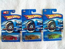 2006 Hot Wheels 1st Edition Honda Civic Si 3 Car Variation Set in all 3 Colors