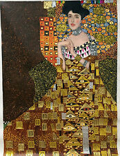 30x40 Gustav Klimt Portrait of Adele Bloch-Bauer I gold oil painting on canvas
