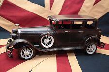 BLACK ROLLS ROYCE tin toy tinplate car blechmodell auto voiture tole buriki
