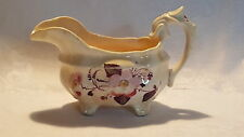 Pink lustre vintage pre Victorian antique footed serpent handle jug