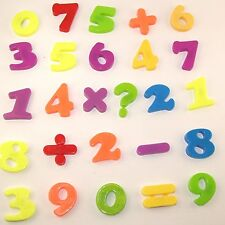 26 Large Magnetic Numbers and Mathematical Equation Signs Fridge Magnets