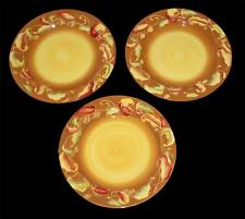 """3 Large Laurie Gates CORONADO COLLECTION Chili Peppers 12"""" Dinner Plates EXC/NEW"""