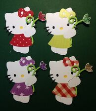 Hello Kitty with Stem Flower Cat Garden Holiday Wedding Die Cuts (Cards)