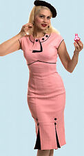 *RARE* STOP STARING! Repro vintage pink Bombshell Dress rockabilly VLV pinup S