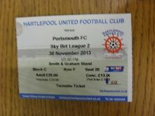 30/11/2013 billet: hartlepool united v portsmouth. thanks for viewing this ite