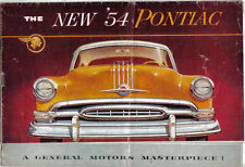 Pontiac Chieftain Special Chieftain Star Chief 1954 Original USA Sales Brochure