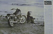 1978 HONDA GL1000 GL-1000 GOLD WING Original Motorcycle Road Test Article