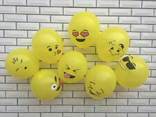 12Pcs Yellow Emotions Emoji Balloon Wedding Birthday Party Decoration Home