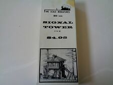 FINE SCALE MINIATURES  FSM - SIGNAL TOWER  #30  -1:87 SCALE - HO -2nd  KIT