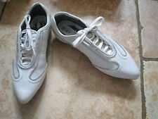 New Puma Alexander McQueen quirky white lace up zip trainers size 3 RRP £170