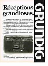 PUBLICITE ADVERTISING 034   1980   GRUNDIG  radio cassette stéréo RR 1040