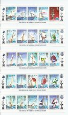 SOLOMON ISLANDS  MNH   #570-574  10 STRIPS OF 5 -AMERICA'S CUP - 1986