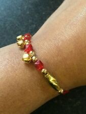 Good Luck Hindu red thread with 3 dangling bells Bracelet Protection Amulets R7