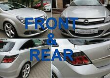Eyebrows for VAUXHALL/OPEL Astra H GTC,VXR FRONT+REAR eyelids lids ABS Plastic